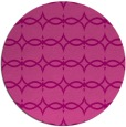 rug #305849 | round pink traditional rug
