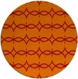 rug #305885 | round orange rug