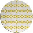 rug #305941 | round yellow geometry rug
