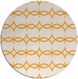 rug #305989 | round light-orange traditional rug