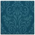rug #306393 | square blue-green damask rug