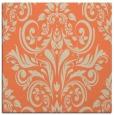 rug #306541 | square orange damask rug