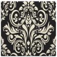 rug #306653   square black damask rug