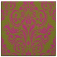 rug #306673 | square light-green damask rug