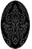 rug #306705 | oval black traditional rug