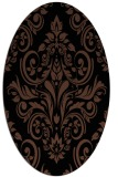 rug #306713 | oval brown damask rug