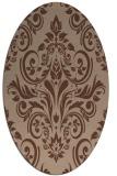 rug #306715 | oval traditional rug