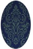 rug #306729   oval blue damask rug