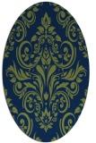 rug #306733 | oval green popular rug