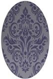 rug #306785 | oval blue-violet traditional rug