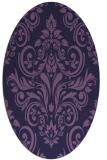 rug #306793 | oval purple traditional rug