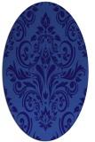rug #306801 | oval blue-violet damask rug