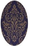 rug #306805 | oval blue-violet damask rug