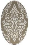rug #306837   oval white traditional rug