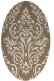 rug #306849   oval beige traditional rug