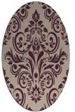 rug #306853   oval pink damask rug