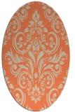 rug #306893 | oval orange damask rug