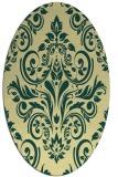 rug #306901 | oval yellow damask rug