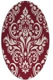 rug #306909   oval pink traditional rug