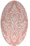 rug #306917   oval pink damask rug