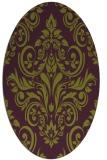 rug #306925   oval purple traditional rug