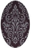 rug #306933 | oval purple traditional rug