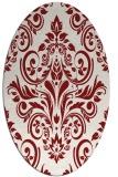 rug #306948 | oval damask rug