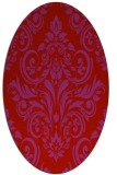 rug #306949 | oval red traditional rug