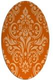 rug #306957 | oval red-orange damask rug