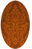 rug #306961 | oval red-orange damask rug