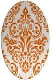 rug #306965 | oval red-orange damask rug