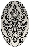 rug #306969 | oval black traditional rug