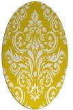 rug #306997 | oval white damask rug