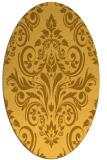 rug #307001 | oval light-orange damask rug