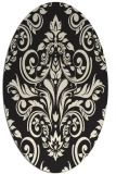 rug #307005 | oval black traditional rug