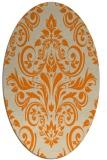 rug #307013 | oval orange traditional rug