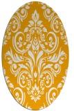 rug #307033 | oval light-orange damask rug
