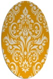 rug #307033 | oval light-orange rug