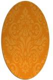 rug #307041 | oval light-orange rug