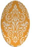 rug #307045   oval light-orange damask rug