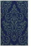 rug #307081 |  blue damask rug