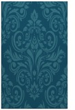 rug #307097 |  blue-green damask rug