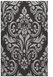 rug #307249 |  red-orange damask rug