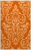 rug #307309 |  red-orange damask rug