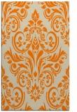 rug #307365 |  orange damask rug