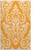 rug #307397 |  light-orange damask rug