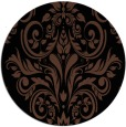 rug #307417 | round brown damask rug