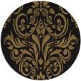 rug #307421 | round black damask rug