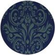 rug #307433   round blue damask rug