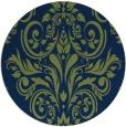 rug #307437 | round green damask rug